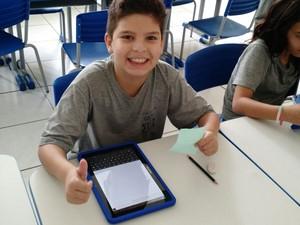 Aplicativo foi desenvolvido com ajuda dos alunos (Foto: Arquivo Pessoal/Ronaldo Lopes)