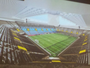 R$ 450 milhões e 27 mil torcedores: Santos apresenta detalhes da arena