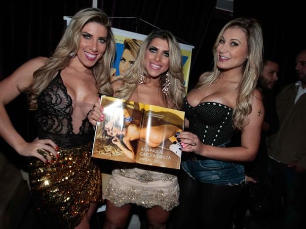 Tati Minerato, Ana Paula Minerato e Andressa Urach em festa em São Paulo (Foto: Leo Franco/ Ag. News)