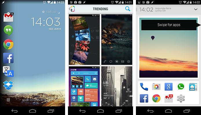 Cover, Themer e Aviate são alguns exemplos de apps que mudam totalmente a cara do aparelho (Foto: Reprodução/Paulo Alves)