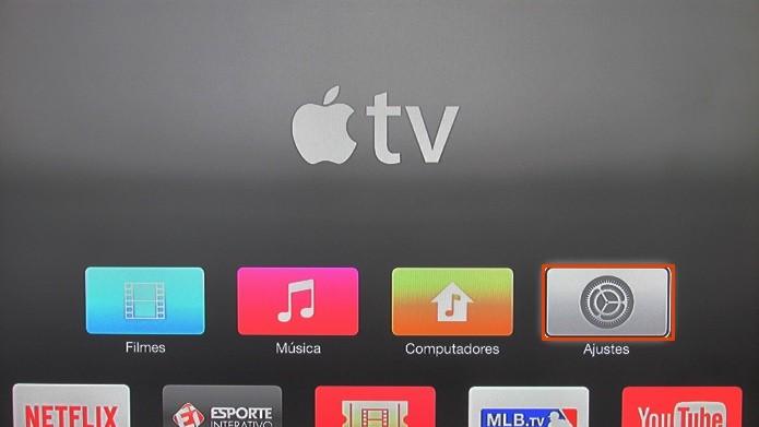 Acesse os ajustes da Apple TV (Foto: Reprodução/Paulo Alves)