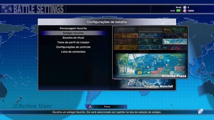 Selecione o estágio favorito em Street Fighter 5 (Foto: Reprodução/Felipe Vinha)