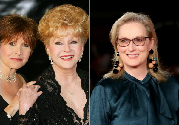 Carrie Fisher, Debbie Reynolds e Meryl Streep  (Foto: Getty Images)
