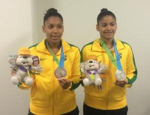 Badminton Medalha de prata feminino Luana e Lohaynny (Foto: GloboEsporte.com)