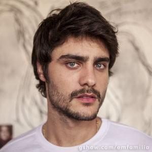 Barba foi uma sugestão de Guilherme para o personagem (Foto: Inácio Moraes / TV Globo)