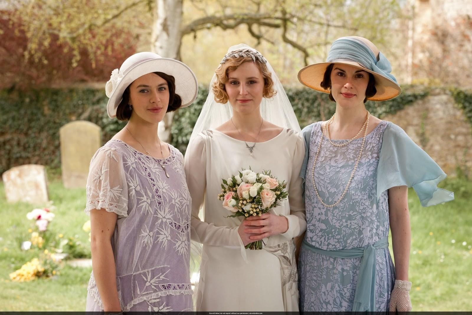 Sybil, Edith e Mary, as irmãs Crawley (Foto: Divulgação)
