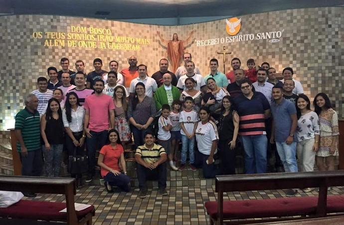 """""""Missa do Atleta"""" marcou a preparação do evento (Foto: Divulgação/Dom Bosco)"""