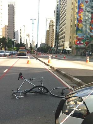 ciclista avenida paulista (Foto: G1)