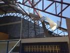 Parte de telhado de ginásio esportivo desaba no município de Campestre