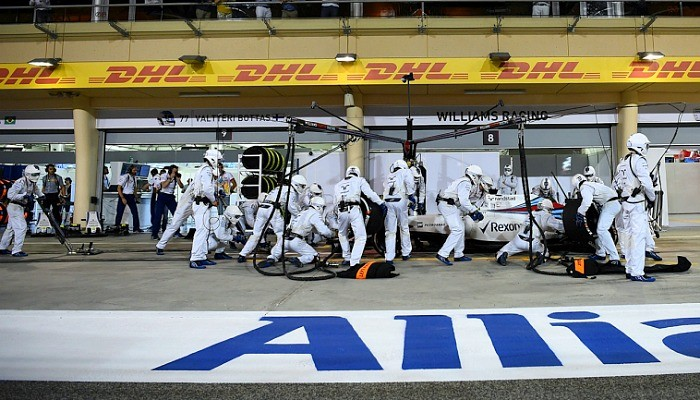 Pit stop Williams GP do Bahrein