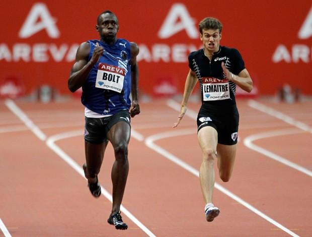 Usain Bolt  Christophe Lemaitre atletismo (Foto: Agência Reuters)