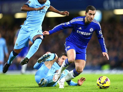 Hazard, Chelsea X Manchester City (Foto: Getty Images)