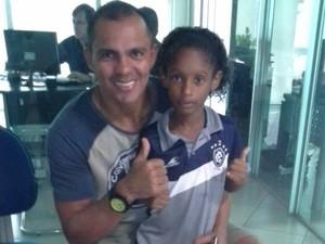 Andre Marcos e ex-jogador Giovanni (Foto: arquivo pessoal )