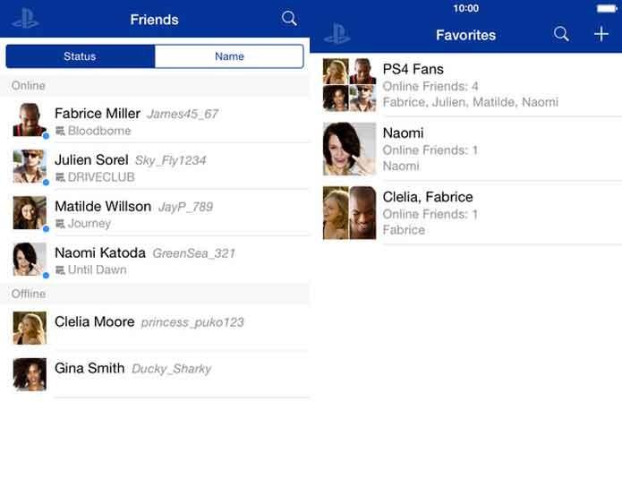 App do PlayStation te deixa buscar mensagens (Foto: Divulgação/Sony)