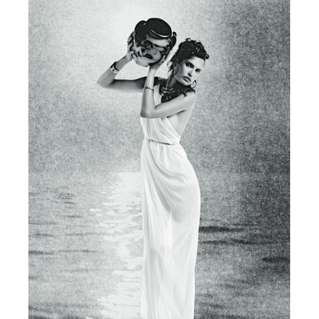 Obra exposta em 'Karl Lagerfeld: A Visual Journey' (Foto: Divulgação)