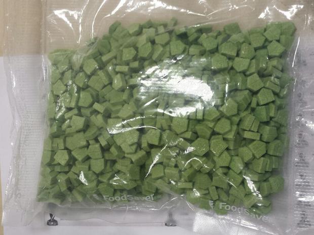 Comprimidos de ecstasy foram encomendados por caminhoneiro em MT (Foto: Divulgação/Polícia Federal)