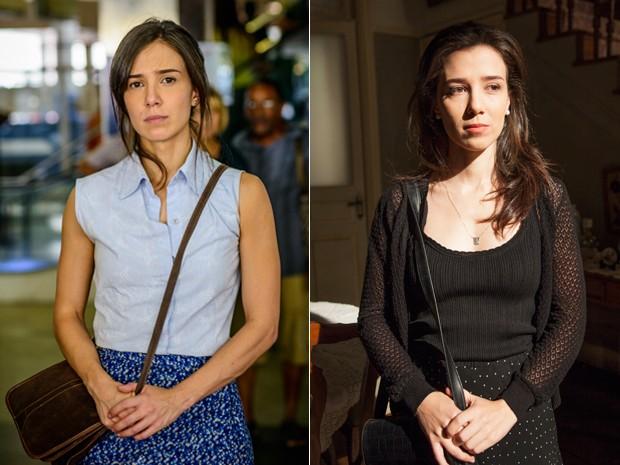 Cora muda o visual e parece mais jovem em Império (Foto: Alex Carvalho e Kiko Cabral / TV Globo)