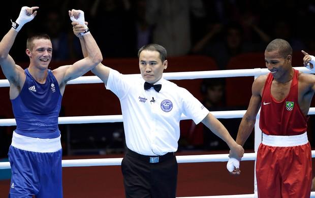 Josh Taylor e Robson Conceição, Boxe, Olimpiadas (Foto: Agência AP)