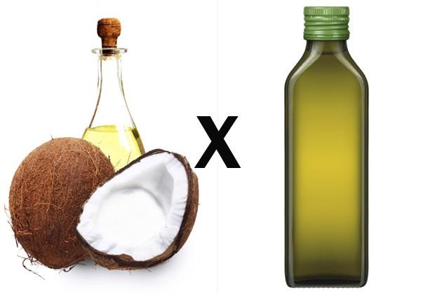 Resultado de imagem para óleo de coco x azeite