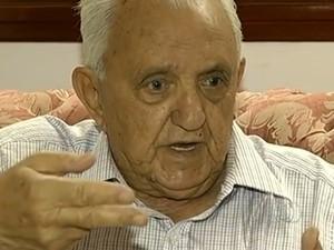 Pai de Carlinhos Cachoeira morre aos 89 anos, em Anápolis, Goiás (Foto: Reprodução/TV Anhanguera)
