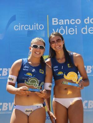 Carolina Horta e Rebecca vencem 3ª etapa do circuito de vôlei de praia sub-23 (Foto: Náyra Macêdo/GLOBOESPORTE.COM)