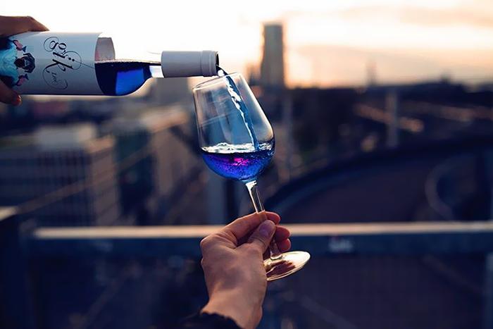Vinho azul (Foto: Divulgação )