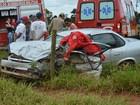 Batida de carro e furgão na MS-141 deixa 1 morto e 3 feridos em Ivinhema