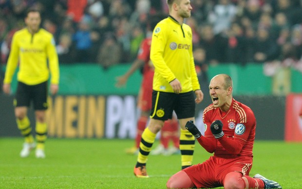 Robben Bayern Borussia (Foto: AFP)
