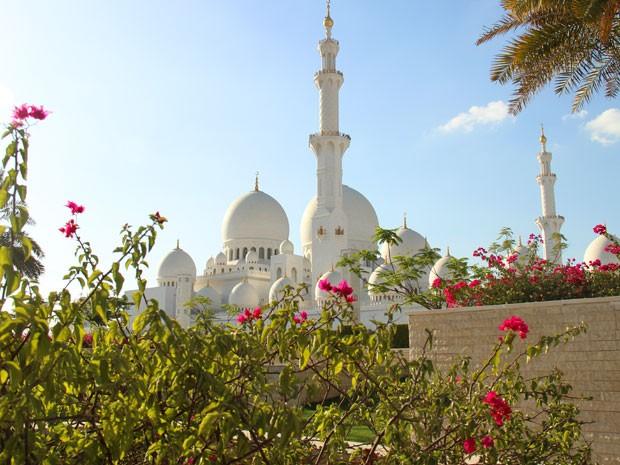 Sheikh Zayed Grand Mosque, mesquita de mármore de Abu Dhabi (Foto: Flávia Mantovani/G1)