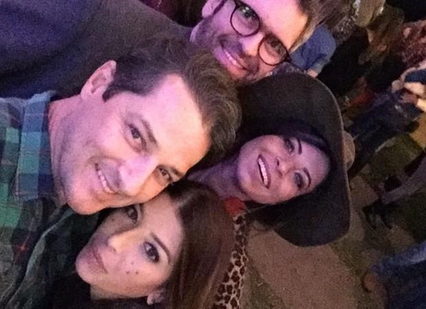 Marcelo Serrado e a mulher, Roberta Fernandes, Anna Lima e o namorado, Leonardo Motta (Foto: Reprodução/Instagram)