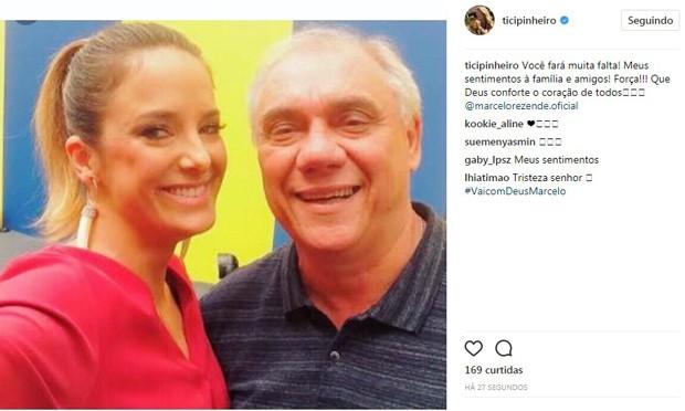 Ticiane Pinheiro lamenta morte de Marcelo Rezende (Foto: Reprodução/Instagram)