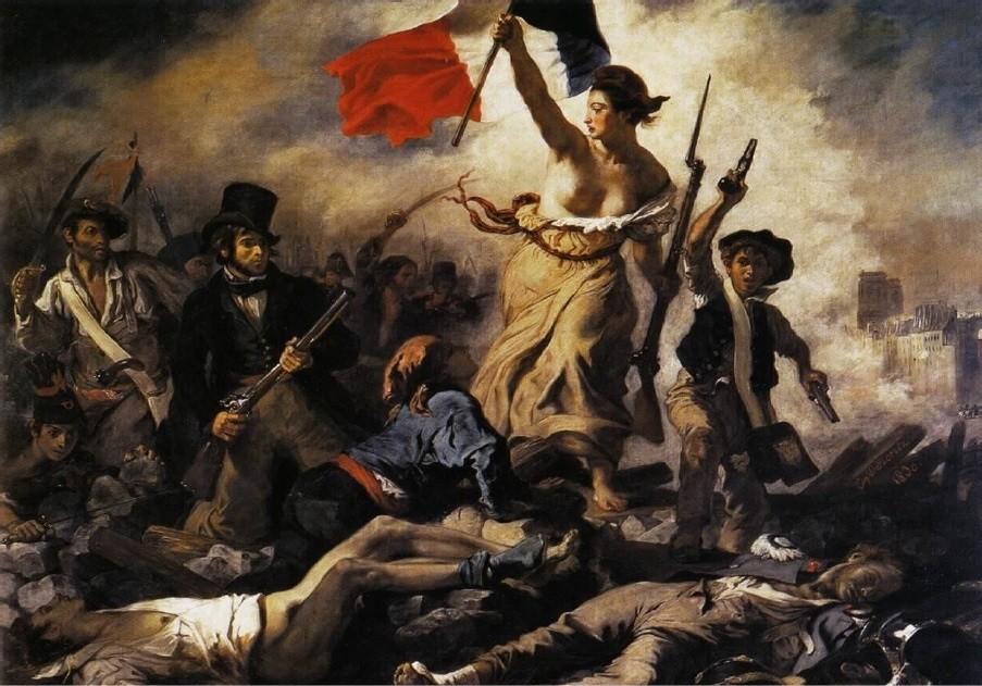 'A Liberdade Guiando o Povo', pintura do artista francês Delacroix sobre as revoluções liberais do século 19 (Foto: Reprodução)
