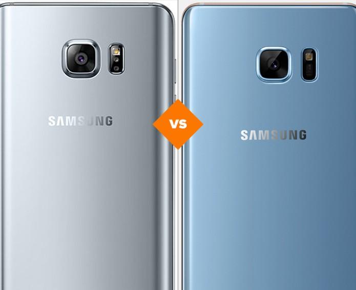 Galaxy Note 5 e Galaxy Note 7: veja o que mudou no celular da Samsung (Foto: Arte/TechTudo)