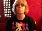 Rita Lee faz homenagem e veste camiseta com foto de David Bowie