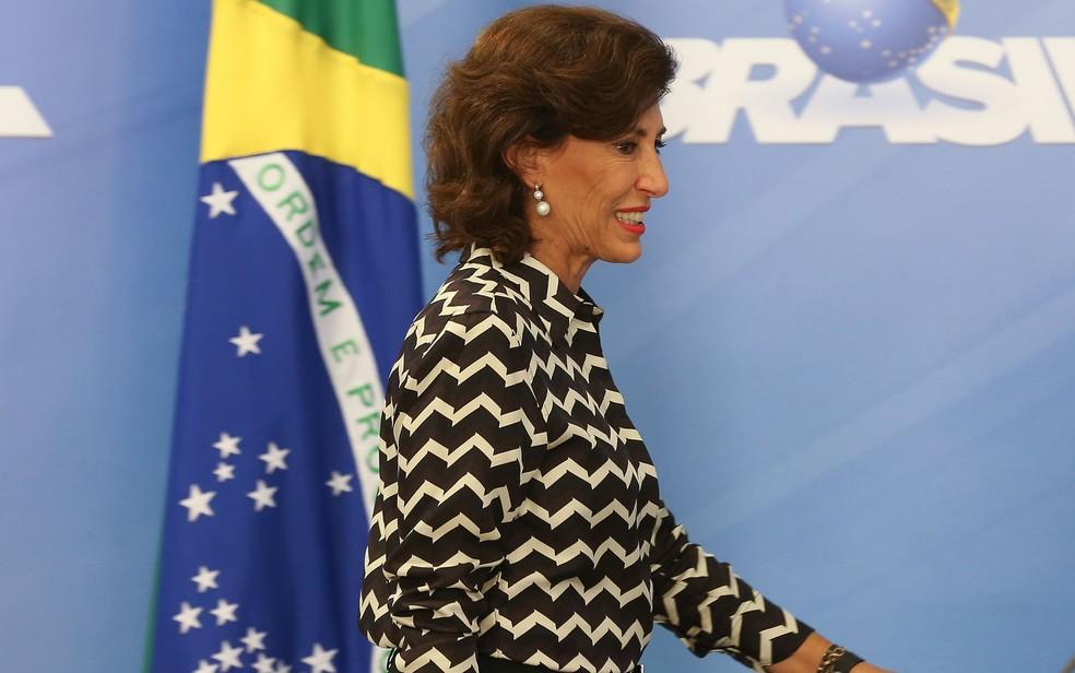 Maria Silvia Bastos, que deixou a presidência do BNDES, em imagem do dia 25 de agosto de 2016 (Foto: Elza Fiúza/Agência Brasil)