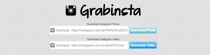 Baixe fotos e vídeos do Instagram com Grabinsta (Foto: Reprodução/Ginnstagram)