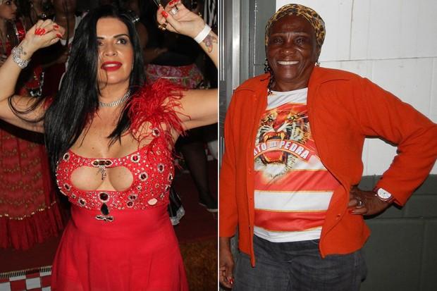 Solange Gomes e Nicidal da Silva (Foto: Ana Cristina Victoria  e Ag. News)