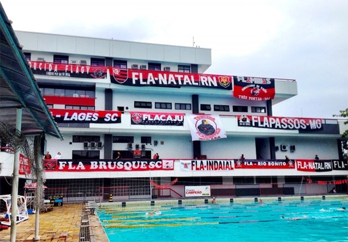 fachada Piscina Flamengo (Foto: Site Oficial do Flamengo)