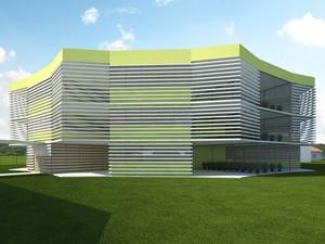 Projeto do prédio do Polo de Inovação (Foto: Divulgação/ IFF)