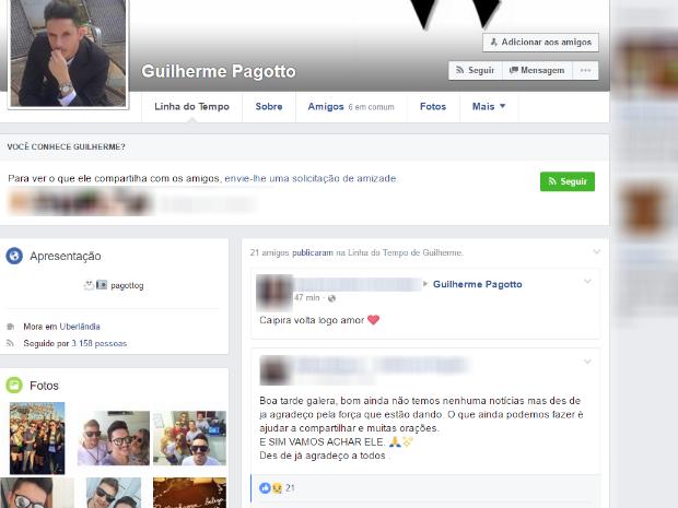 Guilherme Duarte Pagotto Uberlândia (Foto: Reprodução/Facebook)