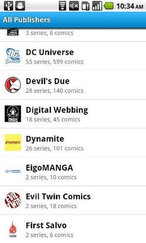 Comics, leitor de livros para Android