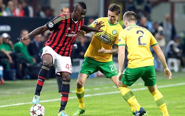 Balotelli jogo Milan e Celtic (Foto: Reuters)