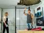 Lucas Lucco quebra teto de espaço fitness em sua casa e explica para Angélica no 'Estrelas'