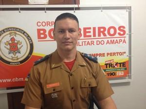 Tenente Álvaro Pereira, coordenador geral do Samu no Amapá (Foto: Jéssica Alves/G1)