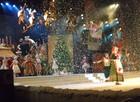 FOTOS: Fantástica Fábrica de Natal conta com acrobatas e 'neve' de espuma (Felipe Truda/G1)