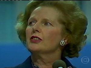 Margaret Thatcher ficou conhecida como dama de ferro (Foto: Rede Globo)
