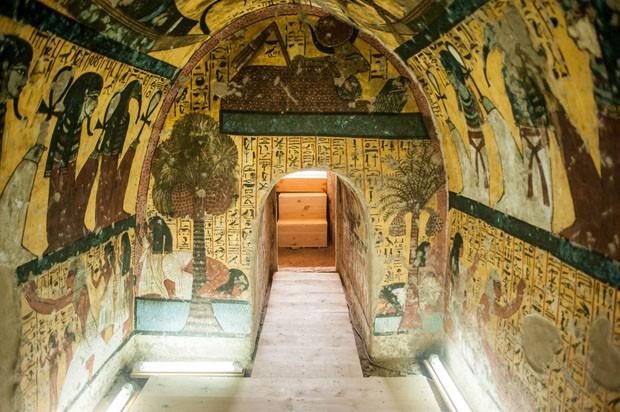 Tumbas impressionantes de 3500 anos atrás são abertas no Egito (Foto: Divulgação)