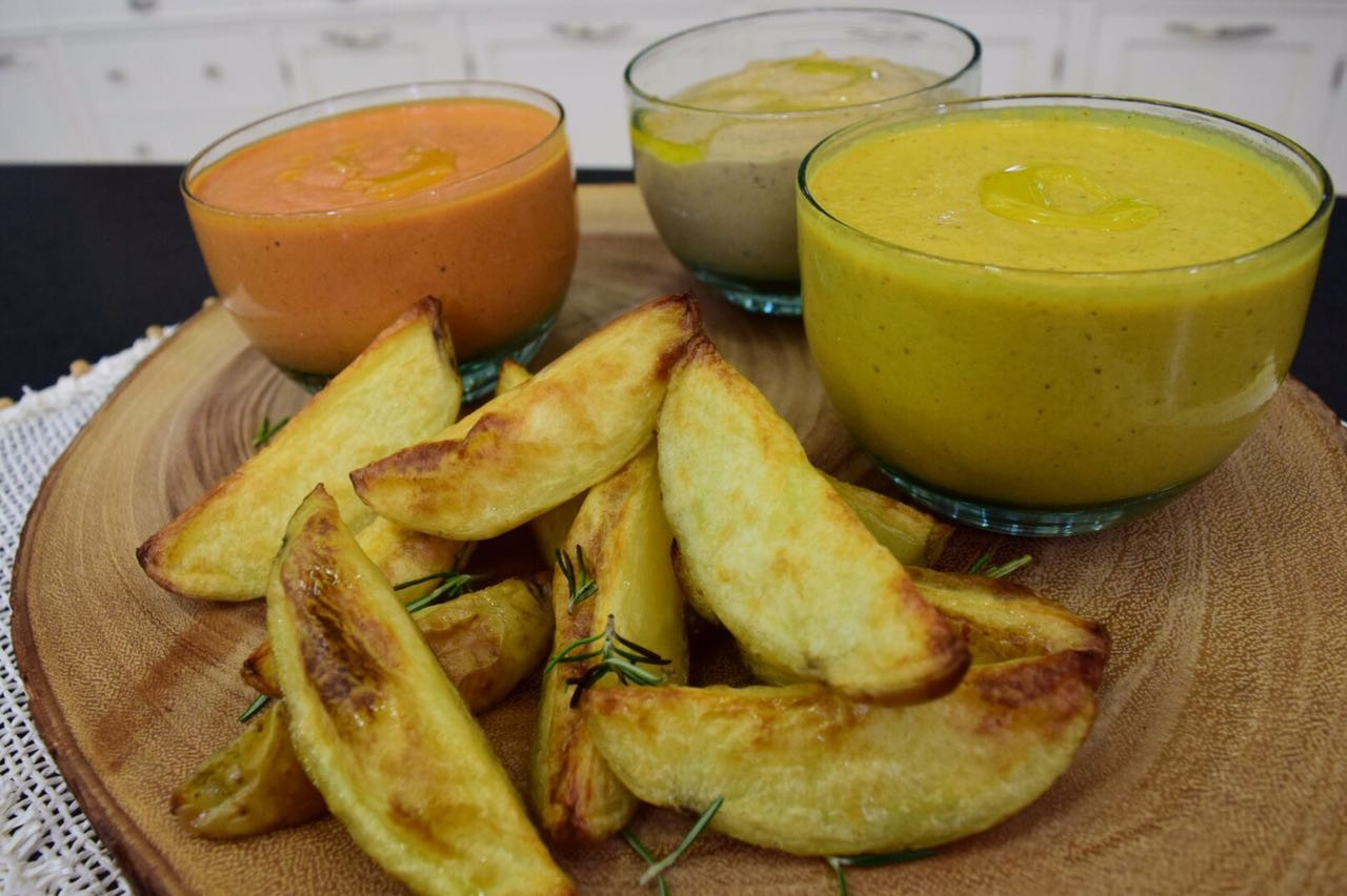 Pesto de Pimentão (Vermelho ou Amarelo) ou Beringela com Batatas Canoa