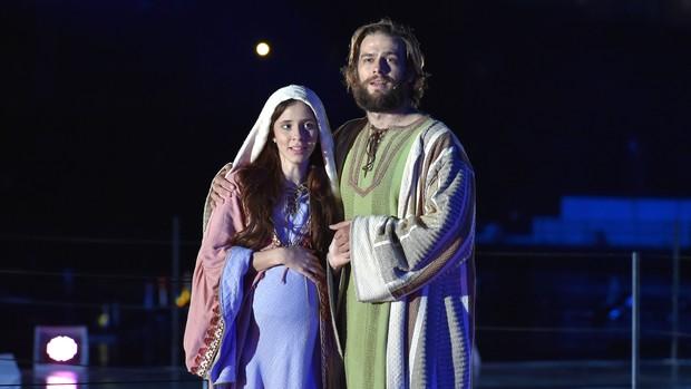 Musical recria nascimento de Jesus sob a visão de Maria (Cleiton Thiele/SerraPress)