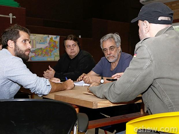 Bruno Glagliasso realiza os primeiros ensaios de 'Dupla Identidade' (Foto: Fábio Rocha/TV Globo)